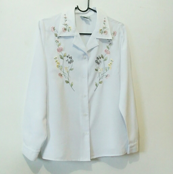 136360a8 Joanna August Tops | Vintage Embroidered White Blouse | Poshmark